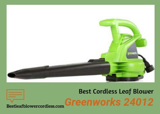 Greenworks 24012 Leaf Blower Review