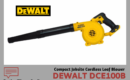 Dewalt DCE100B Leaf Blower Review