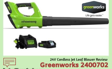 Greenworks 2400702 24V Leaf Blower Review
