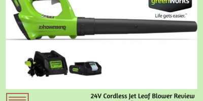 Greenworks 2400702 24V Leaf Blower Review