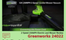 Greenworks 24022 2-Speed 230MPH Electric Leaf Blower Review