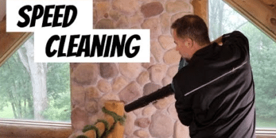 Cleaning Home with Leaf Blower