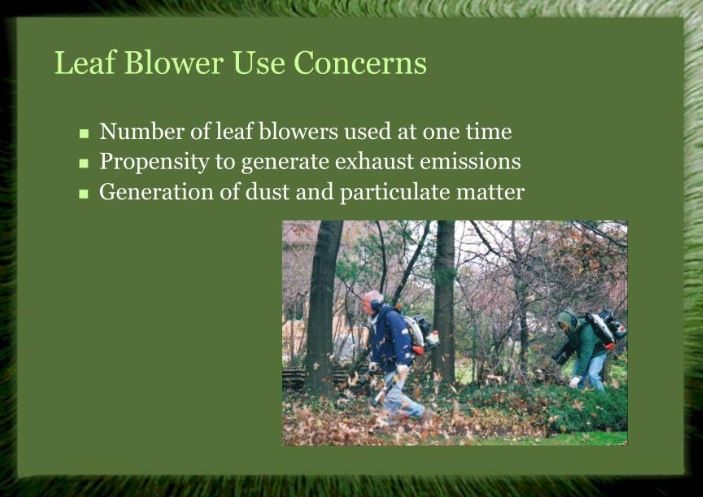 Leaf Blower Use Concerns and Issues