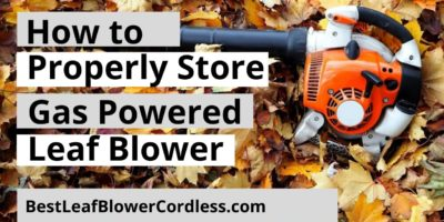How to Properly Store a Gas Powered Leaf Blowers