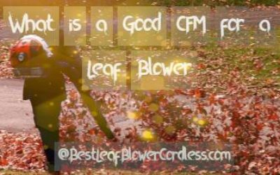 What is a Good CFM for a Leaf Blower and Review