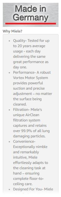 Miele Vacuum Cleaners Reviews