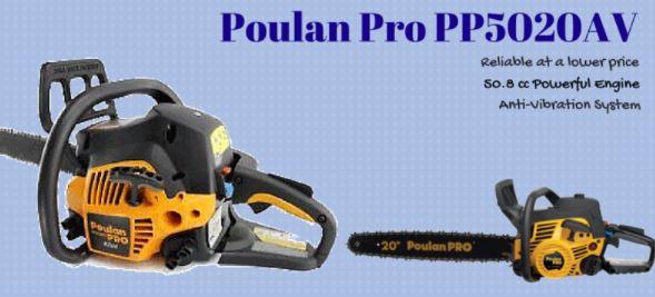 Poulan Pro PP5020AV Chainsaw Reviews